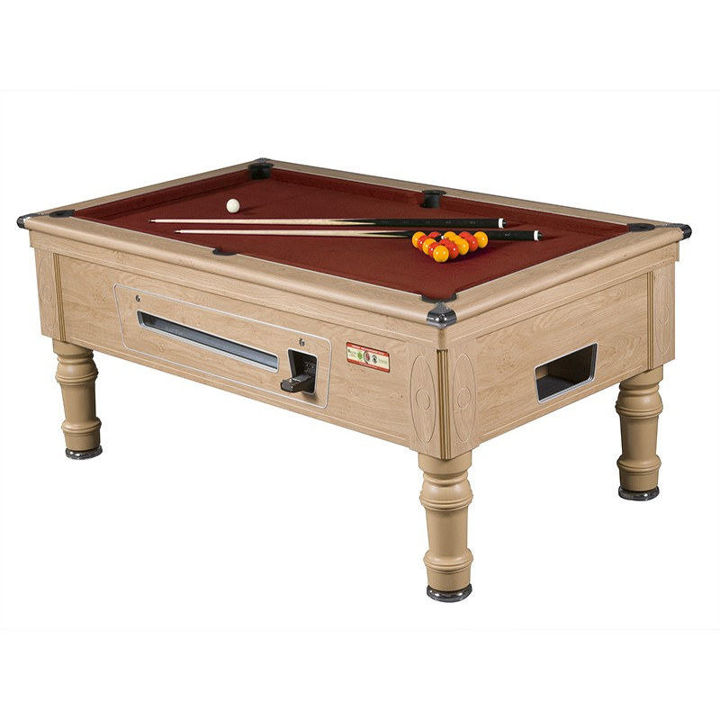 Supreme Prince Coin Operated Pool Table Oak